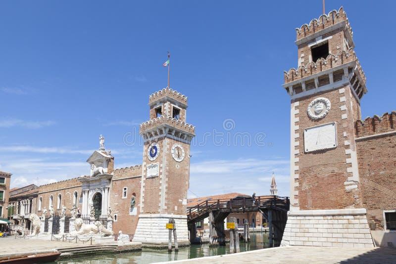 Entrada al Arsenale, Castello, Venecia, Véneto, Italia imagenes de archivo
