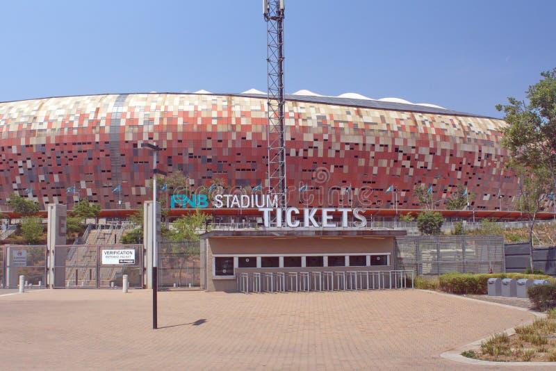 Entrada al FNB Stadium foto de archivo