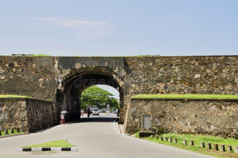 Entrada al fuerte de Galle foto de archivo libre de regalías