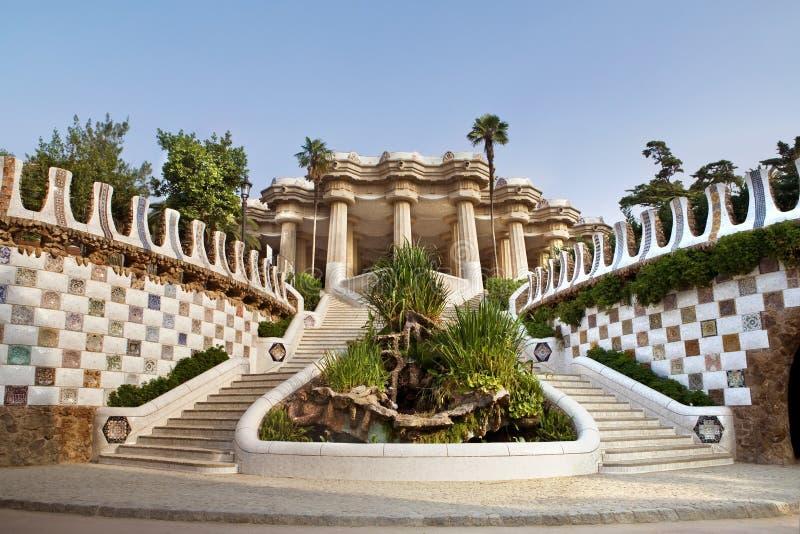 Entrada al museo de Gaudi fotografía de archivo libre de regalías