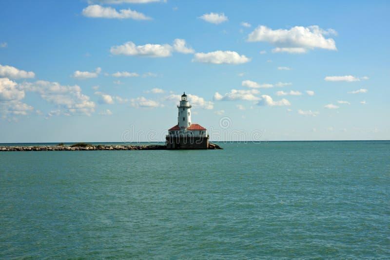 Entrada al puerto en Chicago fotos de archivo