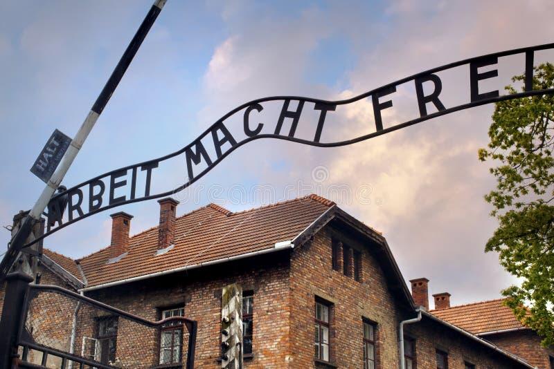 Entrada ao Auschwitz imagem de stock royalty free