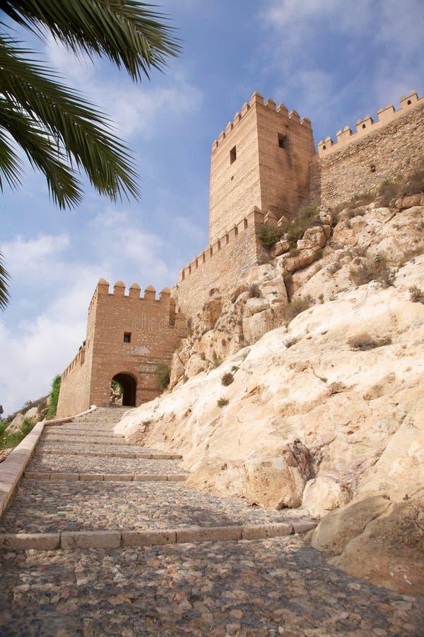 Entrada ao castelo de Almeria fotos de stock
