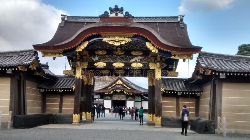 Entrada ao castelo de Nijo-Jo imagem de stock