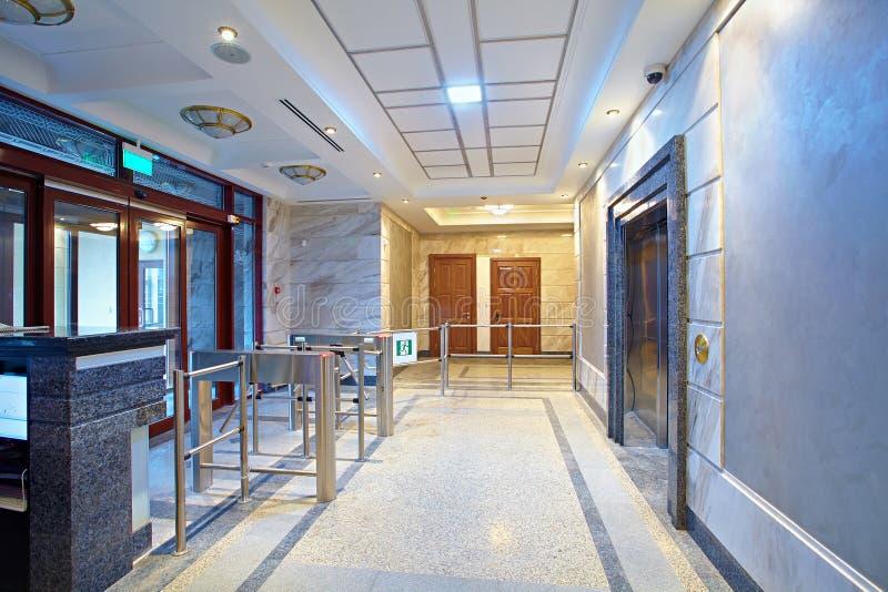 A entrada ao centro de negócios foto de stock