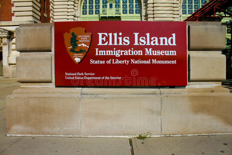 Entrada ao console de Ellis fotografia de stock royalty free