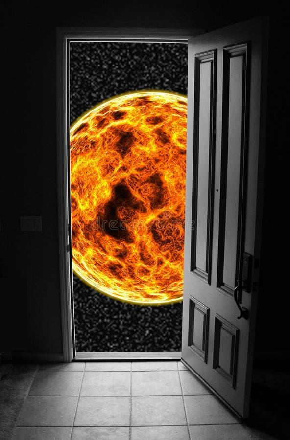 Entrada ao espaço ilustração do vetor
