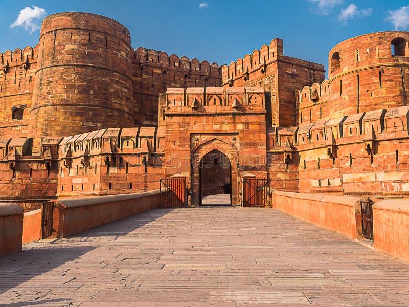 Entrada ao forte de Agra fotografia de stock