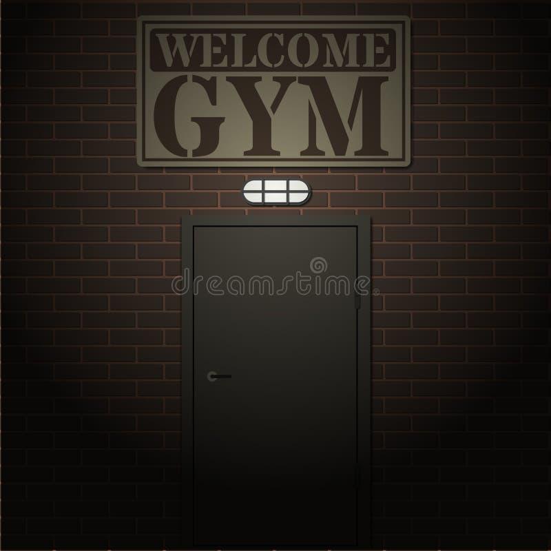 Entrada ao gym ilustração do vetor