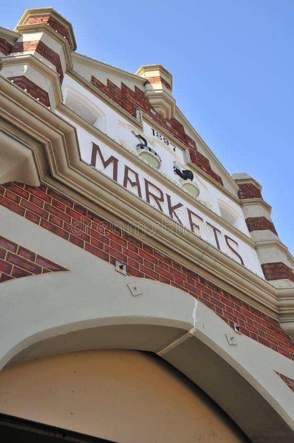 Entrada ao mercado de Fremantle foto de stock