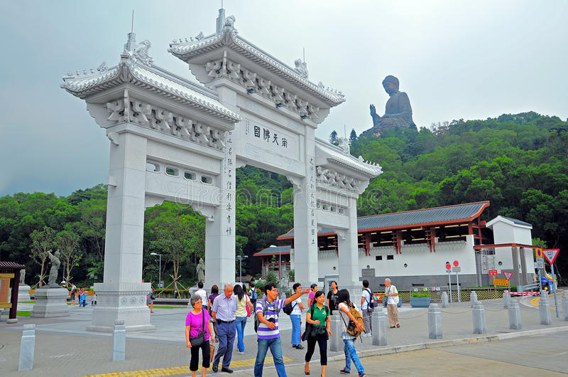 Entrada ao monastério do po lin fotos de stock royalty free