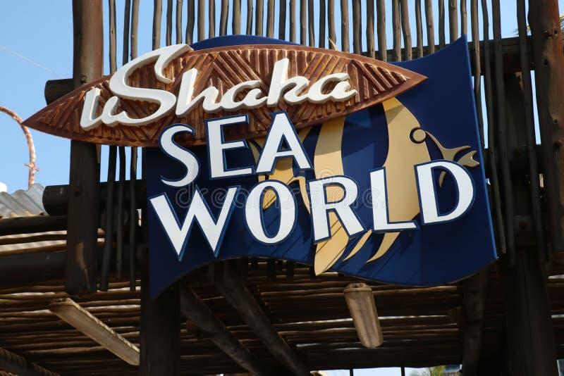 Entrada ao mundo do mar de Ushaka fotos de stock