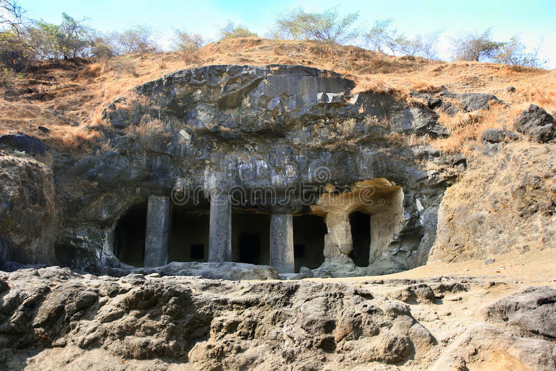 Entrada ao templo da caverna de Shiva foto de stock royalty free