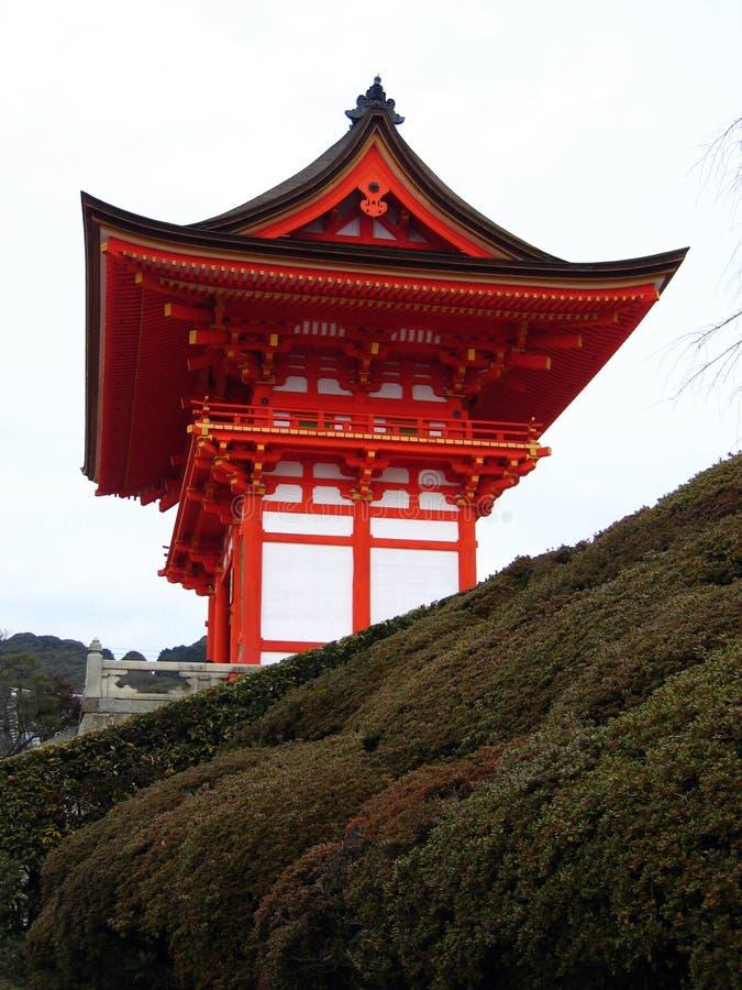 Entrada ao templo de Kiyomizu-dera - Kyoto, Japão imagens de stock royalty free