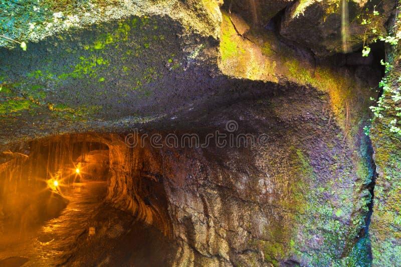 Entrada ao tubo de lava foto de stock