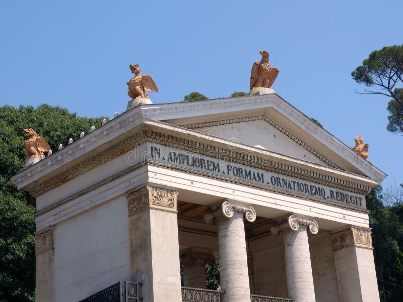 Entrada aos jardins de Borghese da casa de campo foto de stock