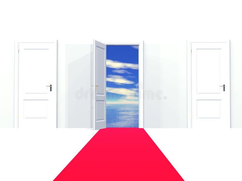 Entrada aos sonhos ilustração stock