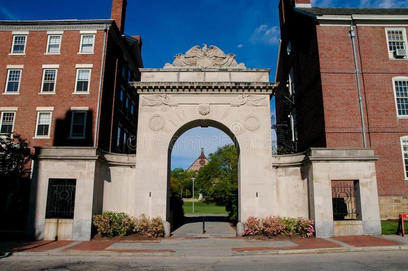 Entrada a Brown University, providencia, RI foto de archivo