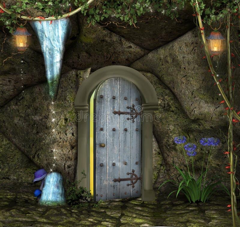 Entrada ? caverna secreta ilustração stock