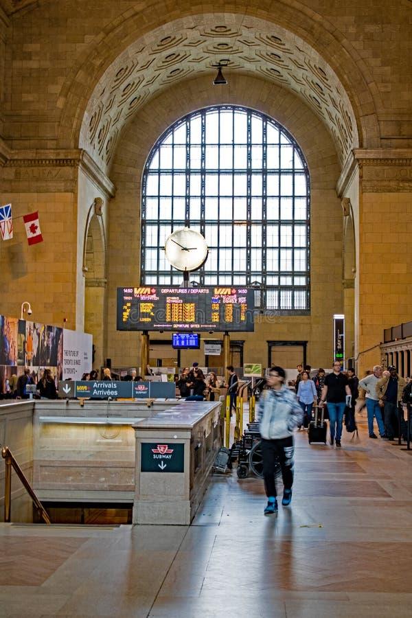 Entrada central da estação em Toronto, Ontário da união, Canadá imagens de stock royalty free