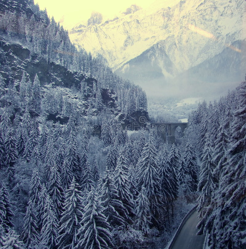 Entrada a Chamonix. fotografia de stock