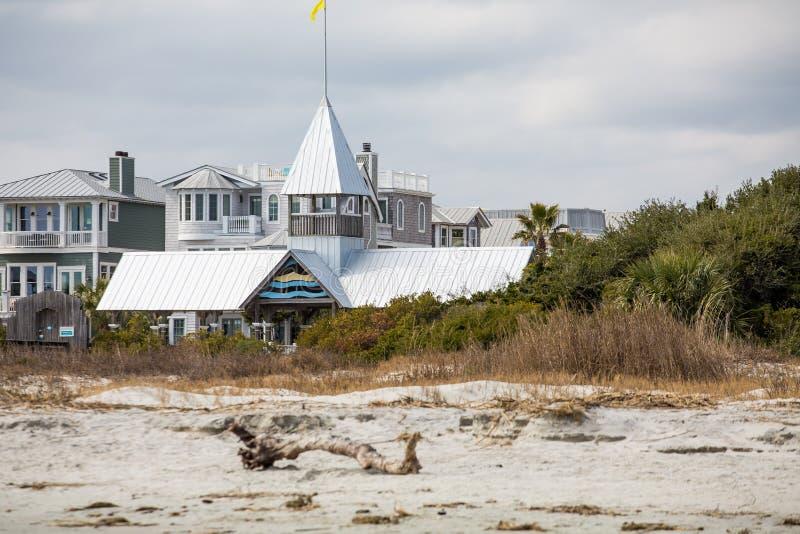 Entrada colorida de la playa a las propiedades horizontales foto de archivo libre de regalías