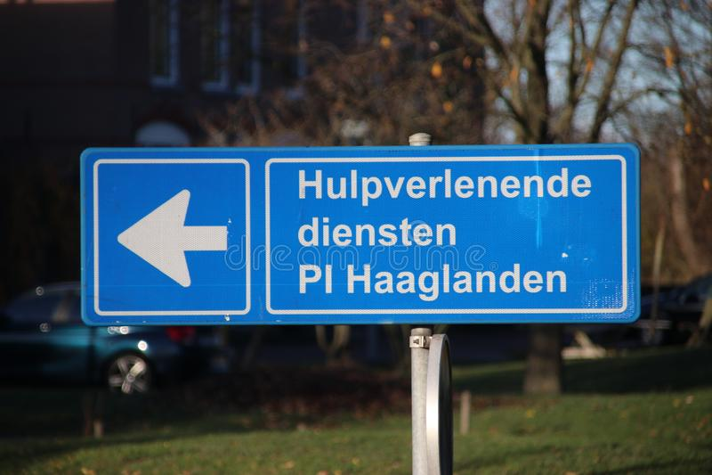 Entrada da cadeia de Scheveningen que é usado igualmente para frases de ICTY nos Países Baixos fotos de stock