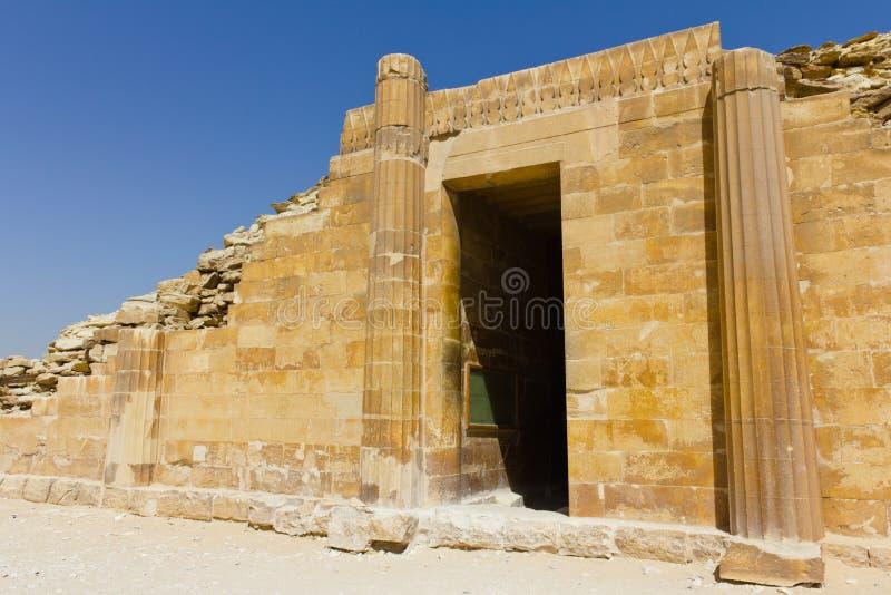 Entrada da casa de Saqqara fotos de stock