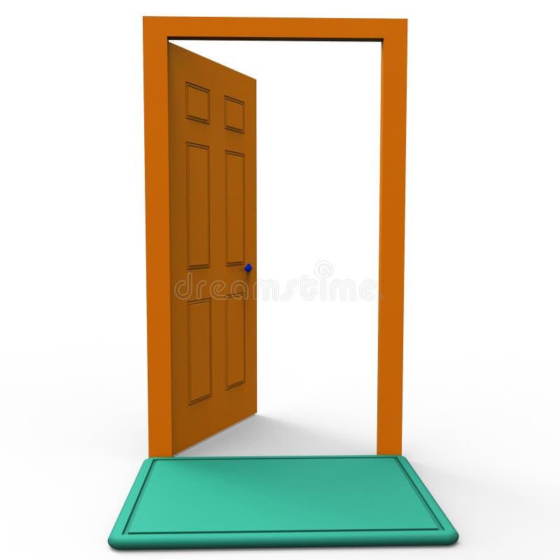 A entrada da casa significa o agregado familiar e a residência das entradas ilustração stock