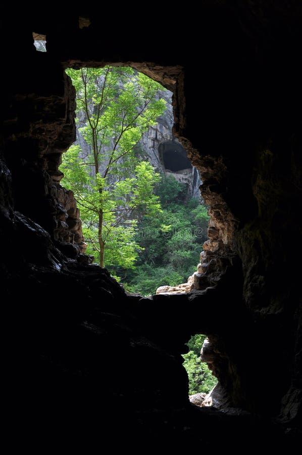 Entrada da caverna fotos de stock royalty free