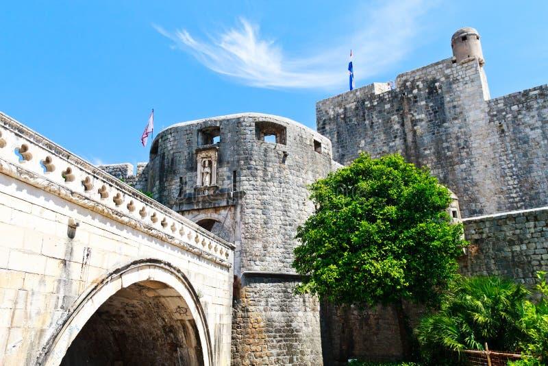 Entrada da cidade de Dubrovnik fotos de stock