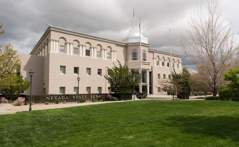 Entrada da construção de Nevada State Legislature em Carson City foto de stock