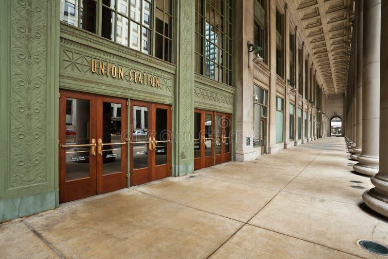 Entrada da estação da união de Chicago. foto de stock royalty free