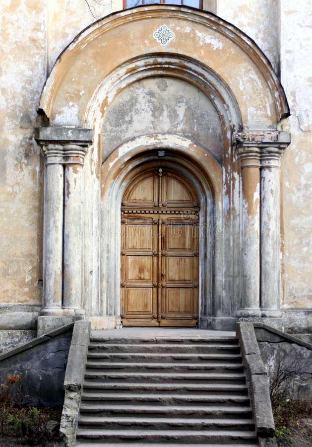 Entrada da igreja fotos de stock