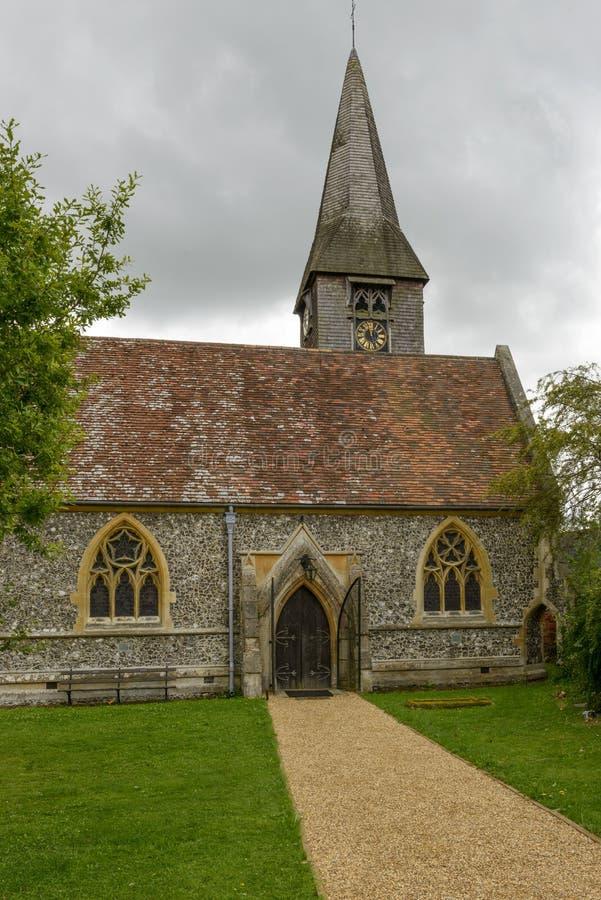 Entrada da igreja de St Mary, Whitchurch em Tamisa fotos de stock