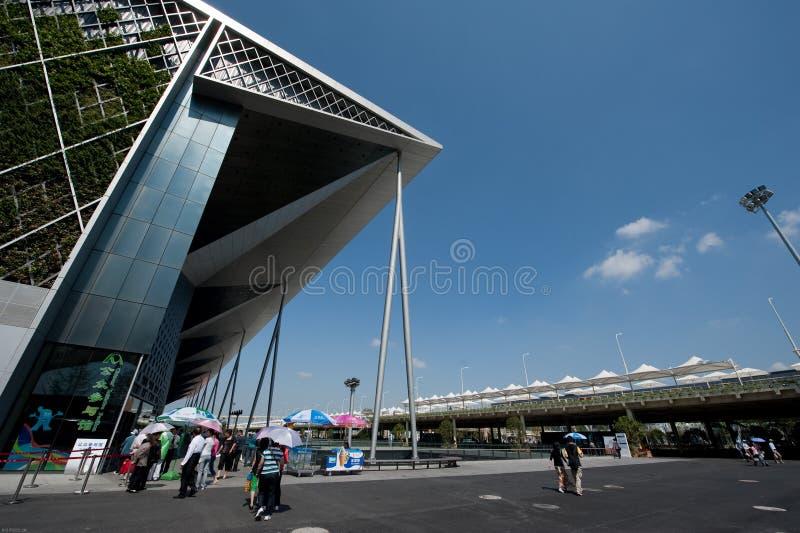 Entrada da linha central da expo do mundo de Shanghai fotos de stock