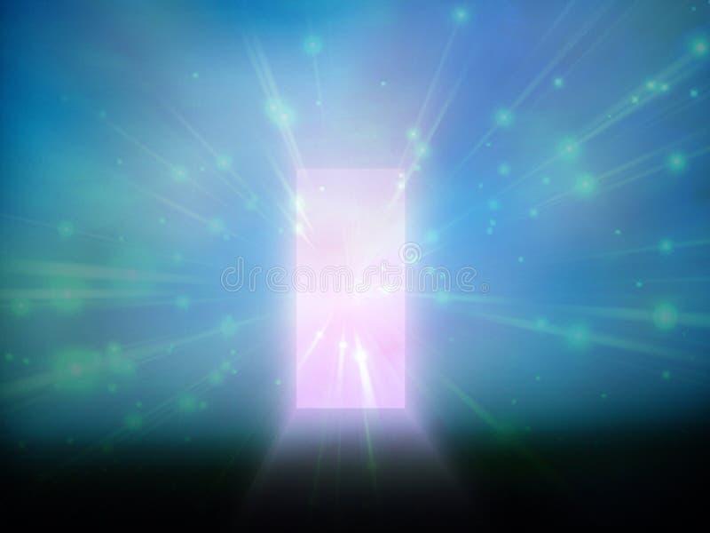 Entrada da luz ilustração do vetor