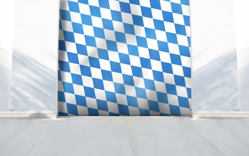 Entrada da parede de pedra da bandeira de Baviera foto de stock royalty free