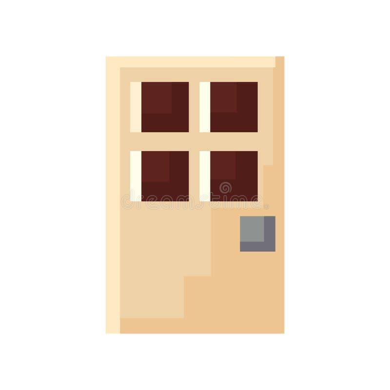 Entrada da porta do pixel ilustração stock