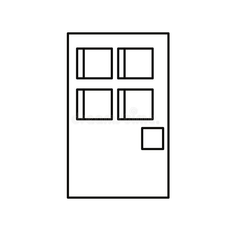 Entrada da porta do pixel ilustração royalty free