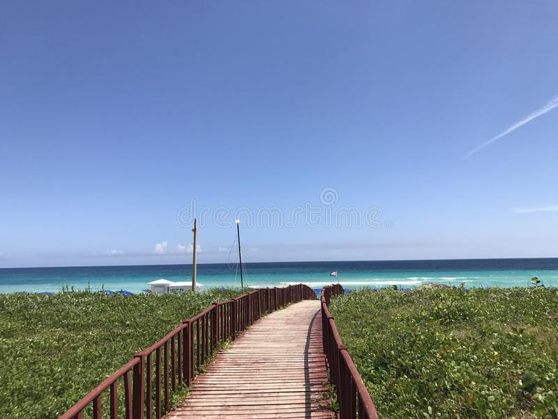 Entrada da praia foto de stock