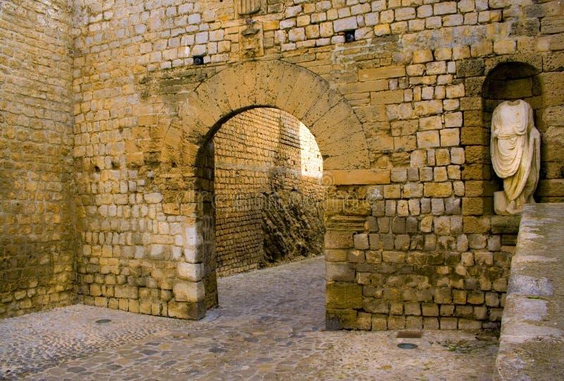 Entrada de Dalt Vila del serie de Ibiza imagen de archivo