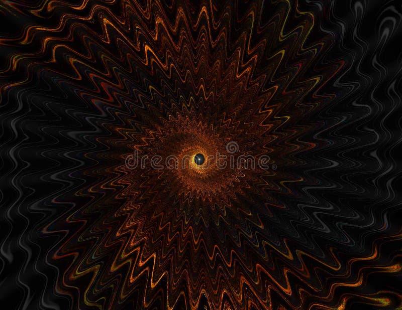 Entrada de espiralamento do Wormhole - opinião da distância ilustração stock