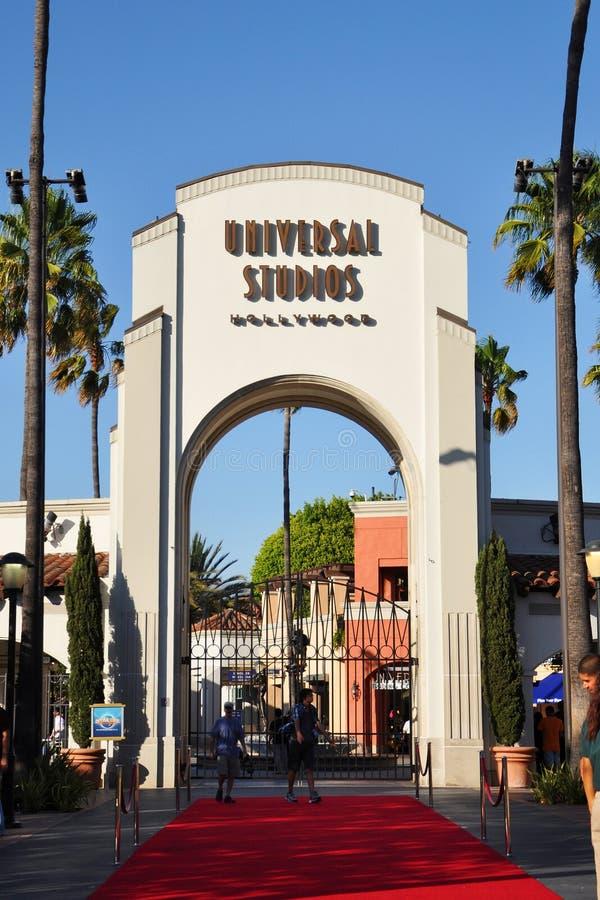 Entrada de estúdios universais Hollywood imagem de stock royalty free