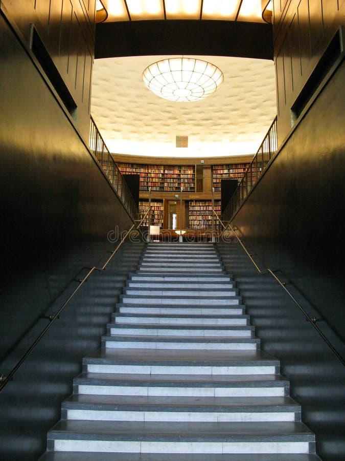 Entrada de la biblioteca de Estocolmo foto de archivo libre de regalías