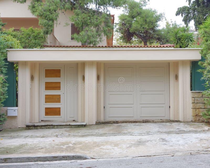 Entrada de la casa, Atenas Grecia imagenes de archivo