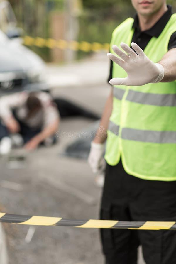Entrada de la escena del crimen imágenes de archivo libres de regalías