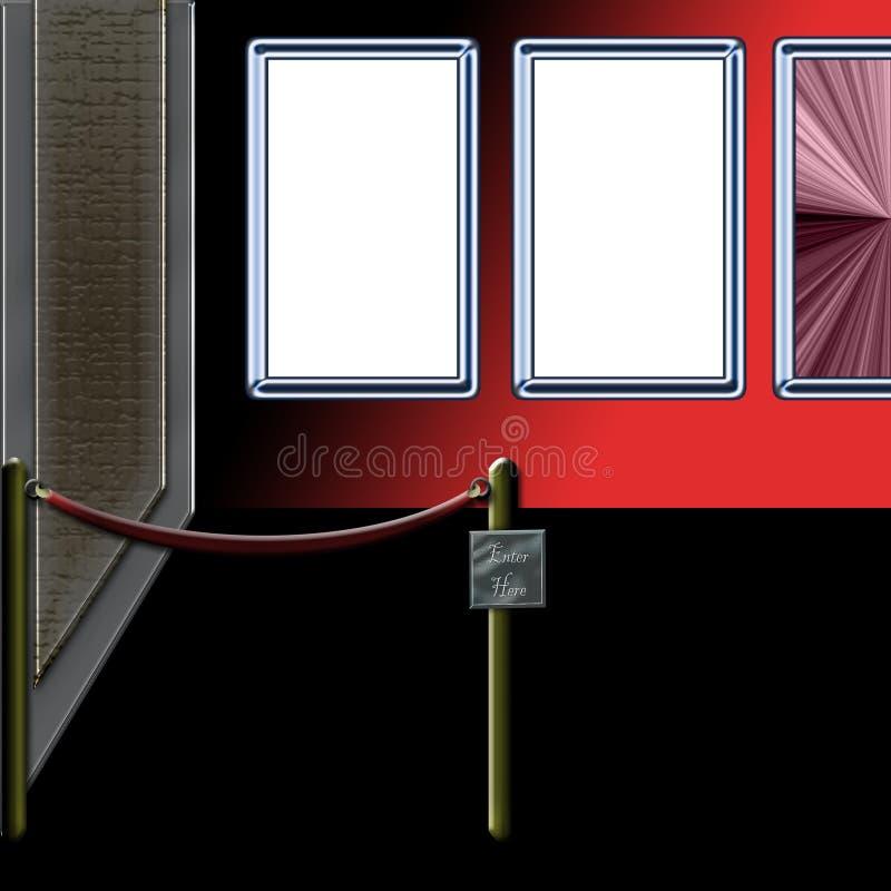 Entrada de la galería ilustración del vector