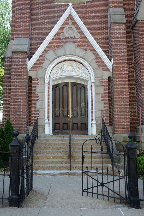 Entrada de la iglesia imagen de archivo