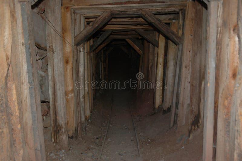 Entrada de la mina del pueblo fantasma de Arizona imagen de archivo libre de regalías